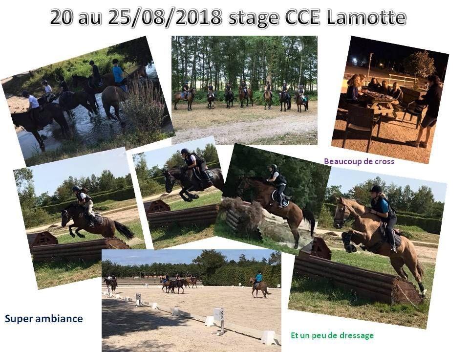 20 - 08 - 2018 stage CCE à Lamotte