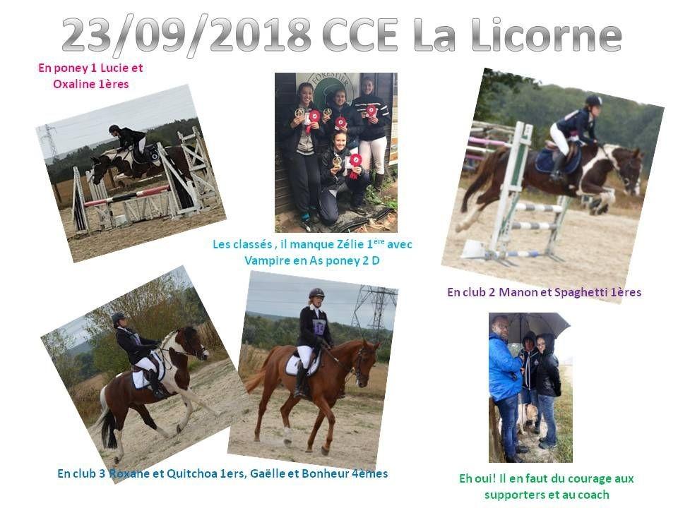 23 - 09 - 2018 CCE La Licorne