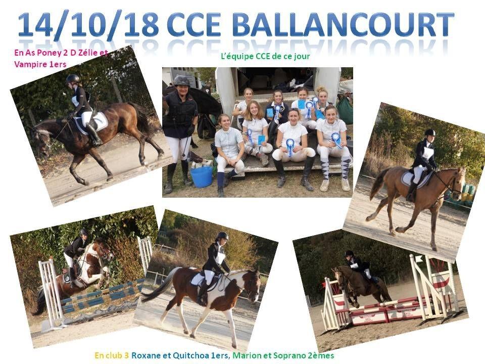14 - 10 - 2018 CCE Ballancourt