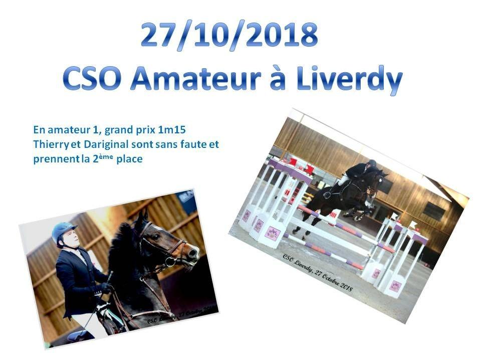 27 - 10 - 2018 CSO Amateur Liverdy