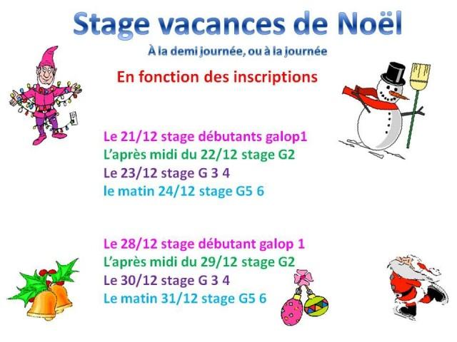 21 - 12 - 2020 stage vacances de Noel